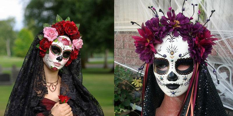 Máscara de La Catrina