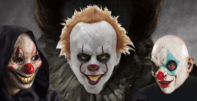 Máscaras Payasos Terroríficos