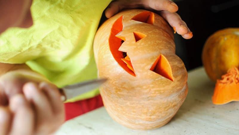 Decorar una calabaza de Halloween